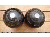 Vintage wooden Bowling bowls
