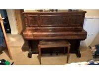 Walnut Upright Piano