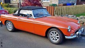 1972 MGB roadster chrome bumper