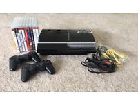 SONY PLAYSTATION 3 40GB and 10 GAMES