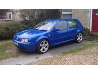 blue vw golf GTi 2 litre