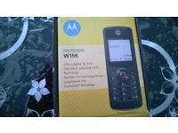 Motorola W156, brand new, locked on Virgin Mobile Phone Classic