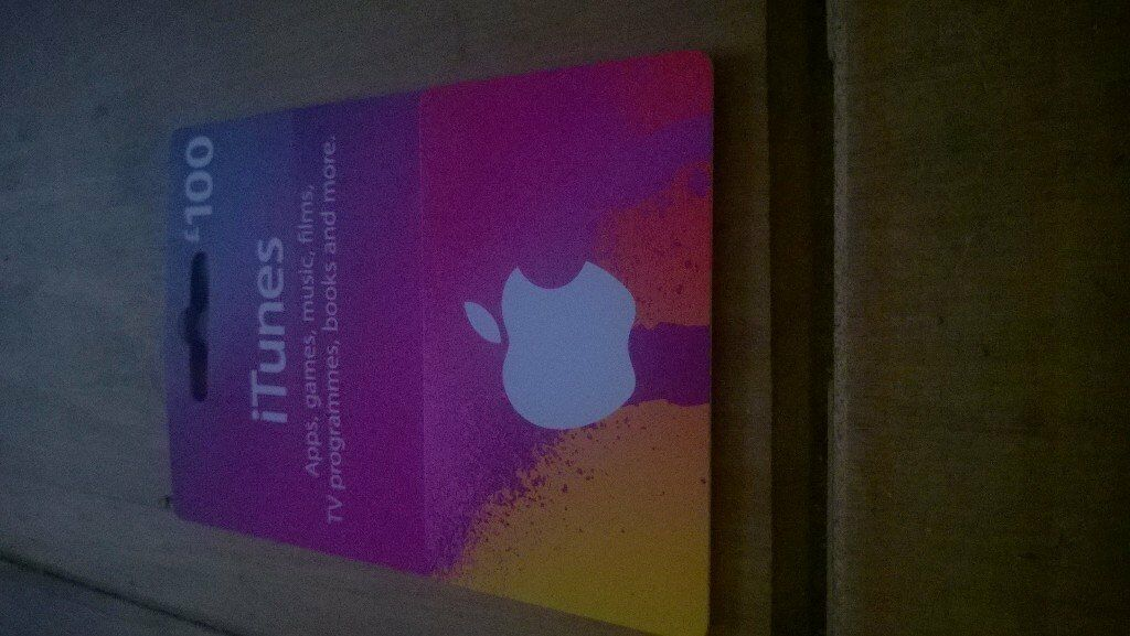 itunes 100£ giftcard