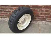 Car wheels complete with new tyres. Could be used for caravans