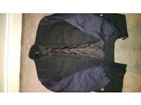 H&M reclaimed wool and acrylic bomber jacket size m