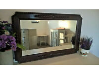 Chunky oak mirror