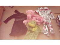 Frog. Pink panther. Starwars. Space shuttle fancy dress clothes