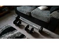 50kg Cast Iron Barbell/Dumbells Weight Set