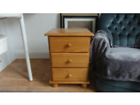 Pine bedside drawers cabinet/table