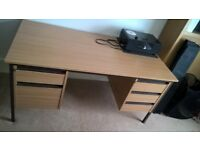 Double Pedestal Desk (2 + 3 Drawers) 1,500 mm long x 750 mm deep x 725 mm high