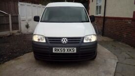 Vw caddy maxi van.lwb. all mileage history. Twin side loading doors