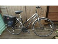 "ladies bike town hybrid commuter bicycle Gary Fisher Zebrano 17.5"" bontrager kit"