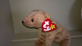 TY Beanie Baby Pecan The Bear Soft Toy With Tag Attached Excellent Condition