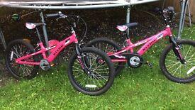 X2 girls BMX bikes