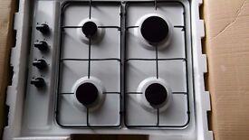 white gas hob 4 burner