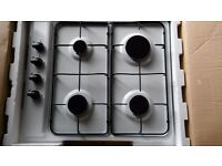 white gas hob 4 burner