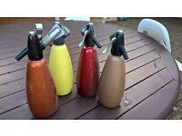 soda syphon origonal with 9 gas bulbs and gas bulb holder