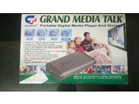 unique grand media talk portable digital media player usb hdd storage s-video Y.Pb.Pr slideshow