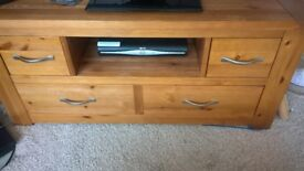 Next - Cambridge Oak Veneer Television Stand and Cabinet. Great condition.