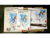 complete boxed adobe photoshop elements 8 for windows retail with serial on dvd case photo editing