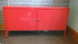 Ikea Red 2 Door Metal Cabinet - Excellent condition