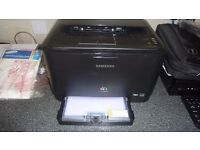 Samsung CLP315 Colour laser printer with spare toners