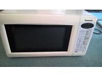 White Panasonic Microwave in full working order