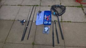 fishing rod and reel (fishsense) and extras