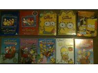 Simpsons DVDs Limited editions,seasons 4,5,8,9,10, The Movie, Christmas, Gone Wild, Around the World