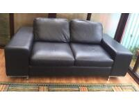 REASONABLE OFFER for Real Leather Black Sofa