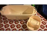 Baby bath and wash bowl set - neutral design