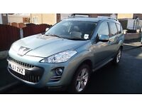 Peugeot 4007 full history and invoicces 7 seat 4x4