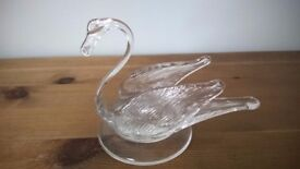 Pair of Glass Swans