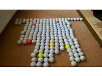 200 USED GOLF BALLS, VARIOUS MAKES & QUALITY