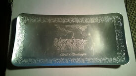 norwegian aluminium carved tray
