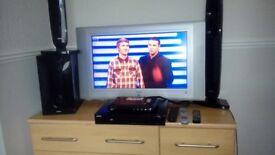 26in bush hd ready tv plus surround sound and freeveiw box