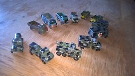 Matchbox Metal Cast Military Vehicles - 12 in total at £80.00