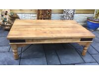 Reclaimed Elm Coffee Table, New / Boxed