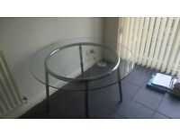 IKEA Glass table and 2 chairs