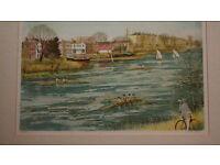 Jeremy King print 'Boating at Chiswick'