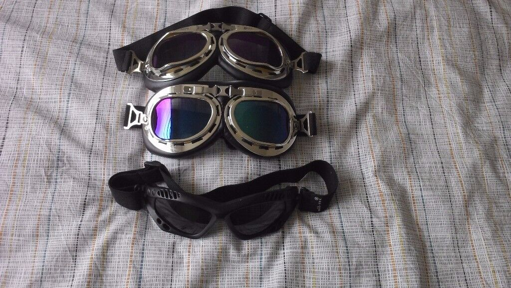 Steam punk style goggles - 3 pairs