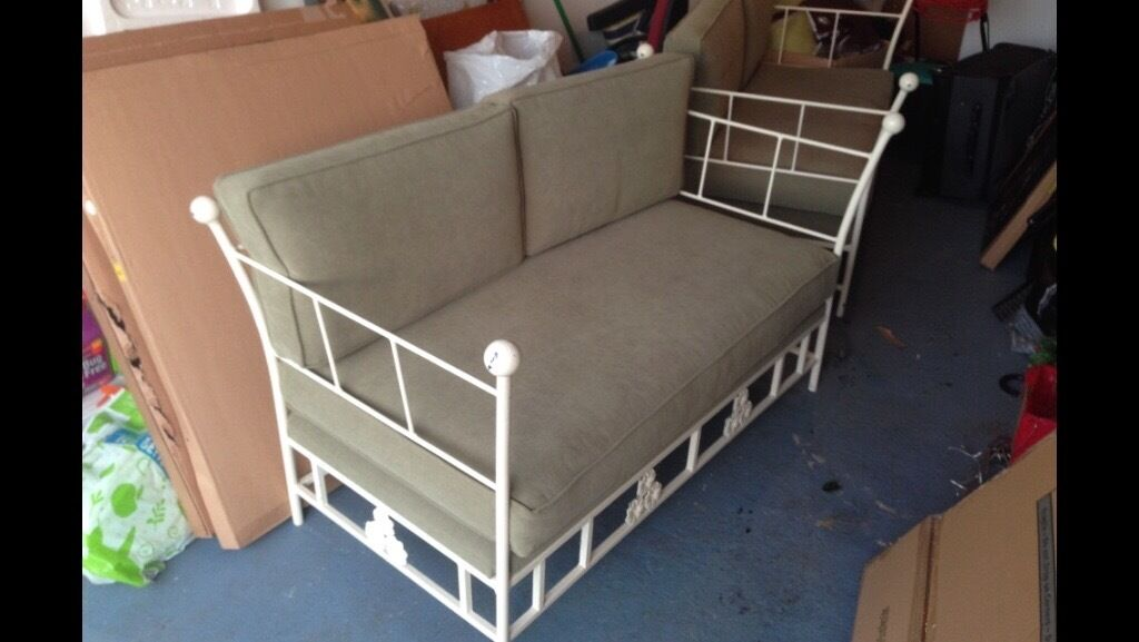 Two three seater sofas