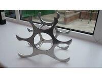 Polished Aluminium Wine Rack