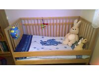 Ikea cot/bed with mattress for sale