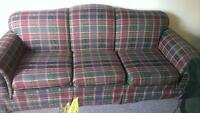 Free!! Plaid couch with black cover