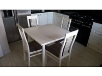 Square Dining Table And 4 Chairs