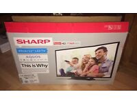 Sharp 32inch LED TV plus free Now TV Box inc both remotes