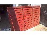 3 fence panels 6 x 4