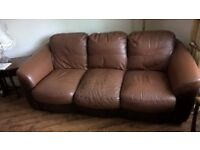 brown leather suite,good used condition.
