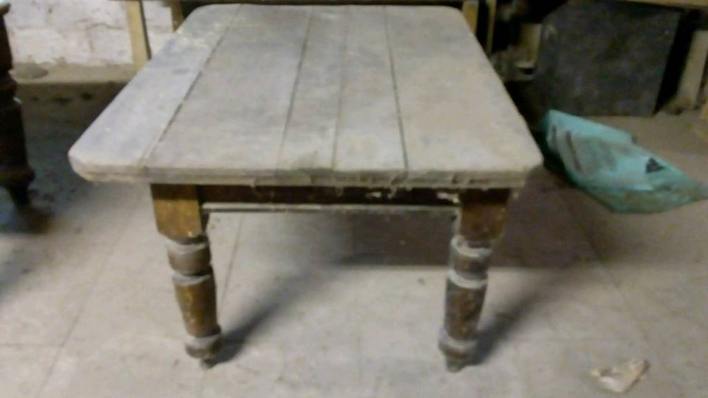 Old pine table with single draw